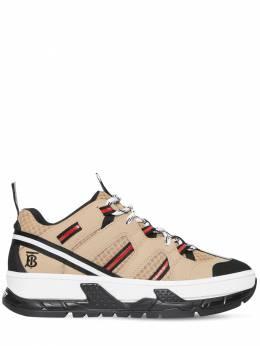 Кроссовки Из Кожи И Сетки Меш 40мм Burberry 70IG4S007-QTE0MzU1