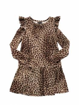 Платье Из Шенилла С Принтом Monnalisa 70IFIC068-MDA4MA2