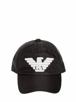 Logo Print Nylon Hat Emporio Armani 70I8Z3021-MDAwMjA1