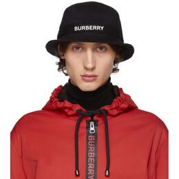Burberry Black Jersey SJ Bucket Hat 192376M14000304GB