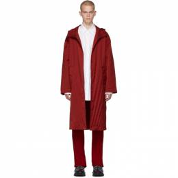 Valentino Red Pleated Parka SV3CJB905K8