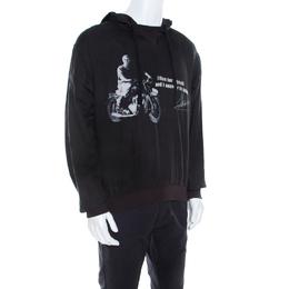 Dolce&Gabbana Dark Grey Steve McQueen Quote Print Ramie Hoodie L 208099