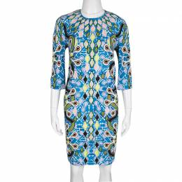 Peter Pilotto Multicolor Printed Crepe Cube Dress M 135952