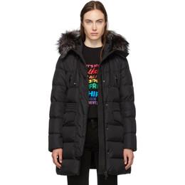 Moncler Black Down and Fur Aprhoti Coat E20934933825C0059