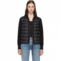Moncler Back Down and Wool Knit High Neck Jacket E20939455700A9018