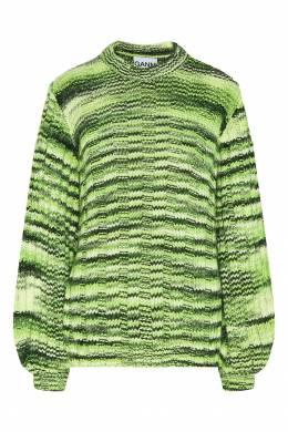 Зеленый джемпер в полоску Ganni 2979139905