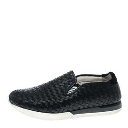 Bottega Veneta Black Intrecciato Leather Loafers Size 42 146748