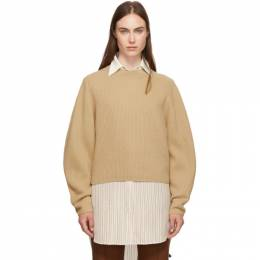 Chloe Brown Wool and Cashmere Sweater CHC19AMP37505