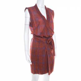 Isabel Marant Etoile Brown Cotton Voile Varna Wrap Dress M 208431