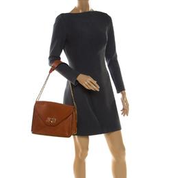 Chloe Orange Leather Medium Sally Shoulder Bag 208352