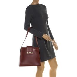 Saint Laurent Paris Maroon Leather Shoulder Bag Yves Saint Laurent 209008