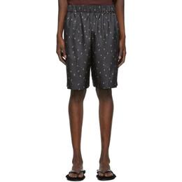 Tibi SSENSE Exclusive Black Polka Dot Ant Shorts P219AP4083