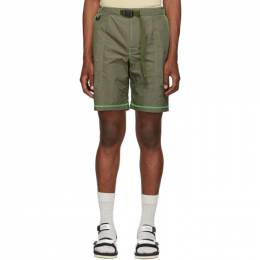 John Elliott Khaki High Shrunk Nylon Mountain Shorts NST-PF19-M07 F107L343