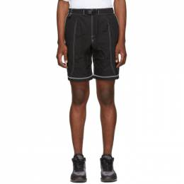 John Elliott Black High Shrunk Nylon Mountain Shorts NST-PF19-M07 F107L342
