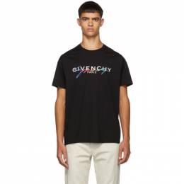 Givenchy Black Signature Logo T-Shirt BM70RL3002