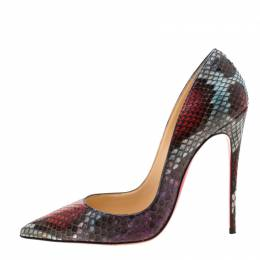 Christian Louboutin Multicolor Python Leather So Kate Pointed Toe Pumps Size 37.5 209355