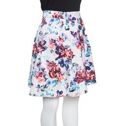 Mary Katrantzou Floral Printed Jacquard Pleated Algernon Mini Skirt M 153009