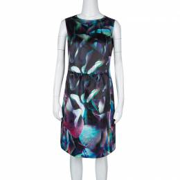 Emporio Armani Multicolor Digital Floral Print Sleeveless Dress M 131114