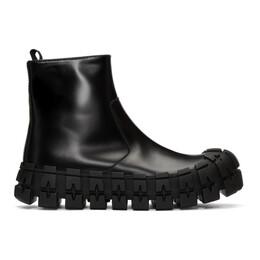 Prada Black Wheel Sole Zip Boots 2TG148 B4L