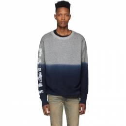 Faith Connexion Grey and Blue Degrade Sweatshirt X3313J00F53