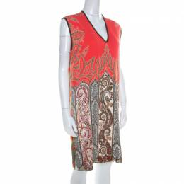 Etro Multicolor Paisley Printed Stretch Crepe Shift Dress M 209533