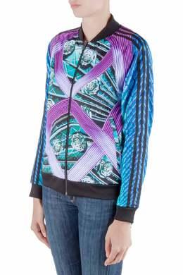 Adidas by Mary Katrantzou Multicolor Abstract Printed Jersey Bomber Jacket XS 209810
