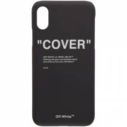 Off-White SSENSE Exclusive Black Quotes iPhone X Case 192607F03200401GB
