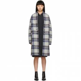 Isabel Marant Etoile Grey Check Gabriel Coat 19AMA0109-19A013E
