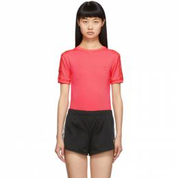 Adidas Originals Pink Short Sleeve Bodysuit ED7505