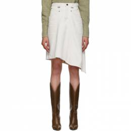 Isabel Marant Off-White Denim Dranel Skirt JU1014-19A017I