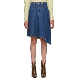 Isabel Marant Blue Denim Dranel Skirt JU1014-19A017I