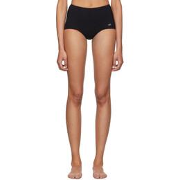 Dolce&Gabbana Black High-Rise Bikini Bottoms O2A16J FUGA2