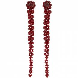 Simone Rocha Red Drip Earrings ERG12 0903 Crystal
