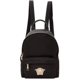 Versace Black Nylon Palazzo Backpack DBFF360 DNYLO