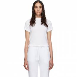 Thom Browne White Relaxed Fit Side Slit T-Shirt FJS036A-05398