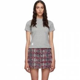 Thom Browne Grey Side Slit Relaxed Fit T-Shirt FJS036A-05398