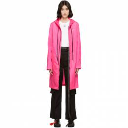 Off-White Pink Unfinished Raincoat OMEA171E19E150032891