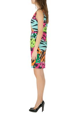 Moschino Cheap and Chic Multicolor Animal Print Cotton Poplin Dress M 209741