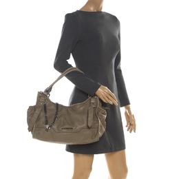 Burberry Khaki Leather Shoulder Bag 209309