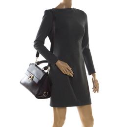 Salvatore Ferragamo Purple Leather Medium Sofia Top Handle Bag 209124