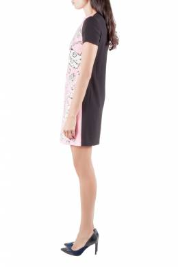 Moschino Cheap and Chic Pink Crepe Flinstone Printed Detail Dress S 209864