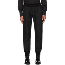 Dolce&Gabbana Black Jacquard Lounge Pants GYVHAT FJRDR