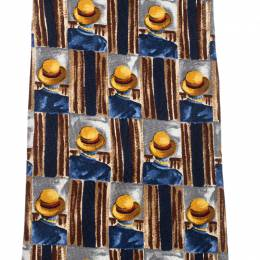 Dunhill Multicolor Hat Print Silk Traditional Tie 210147
