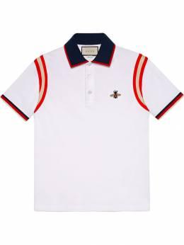 Gucci рубашка-поло с пчелой 500971X9M37
