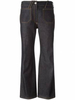 Courreges укороченные расклешенные джинсы 216P0406