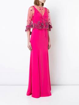 Marchesa Notte платье с цветочным узором N20G0537