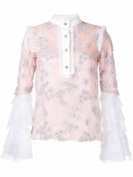 Macgraw блузка с рисунком из ромашек и оборками 0027B