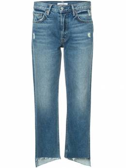 Grlfrnd укороченные джинсы с необработанными краями GF400553