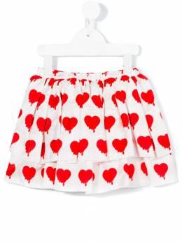 Caroline Bosmans юбка с принтом сердец 302PLANETSMILE