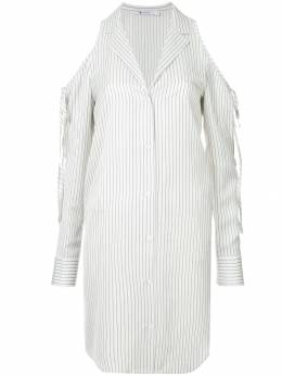 T By Alexander Wang cold shoulder striped shirt 4W181016X4